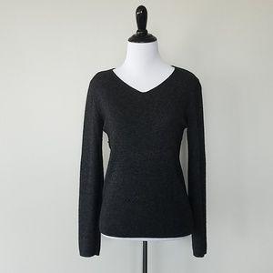 Benetton dark gray v-neck sweater